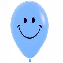 """12"""" Μπαλόνι τυπωμένο Φατσούλα γαλάζιο"""