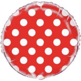 Μπαλόνι κόκκινο πουά 45 εκ
