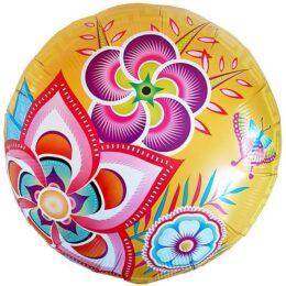 Μπαλόνι λουλούδια & πεταλούδα 45 εκ