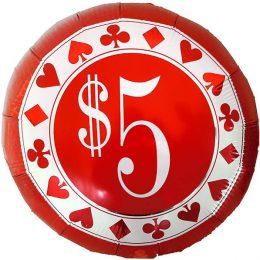 Μπαλόνι καζίνο 5 δολάρια 45 εκ