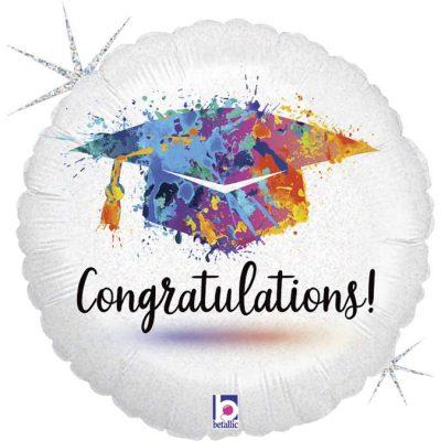 Μπαλόνι αποφοίτησης Congratulations γκλίτερ 45 εκ