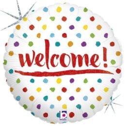 Μπαλόνι Welcome πουά