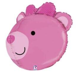 Μπαλόνι ροζ Αρκουδάκι τρισδιάστατο 68 εκ