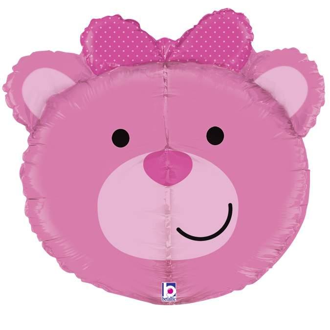 Μπαλόνι ροζ Αρκουδάκι τρισδιάστατο
