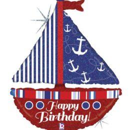 Μπαλόνι Kαράβι Happy Birthday 94 εκ
