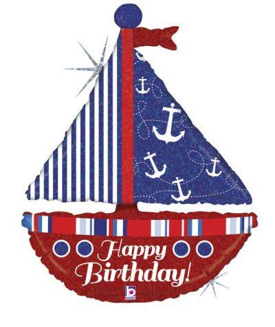 Μπαλόνι για γενέθλια καράβι Happy Birthday