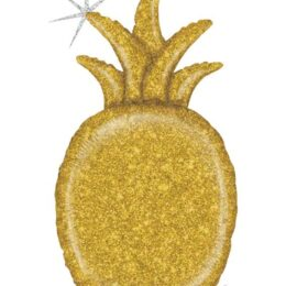 Μπαλόνι χρυσός Ανανάς με γκλίτερ 89 εκ