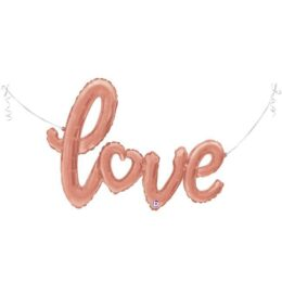 Μπαλόνι αγάπης Love ροζ χρυσό 119 εκ