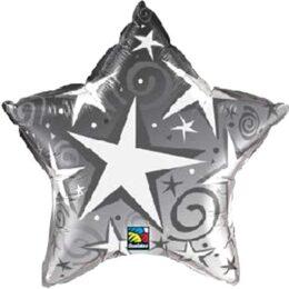 Μπαλόνι ασημί Αστέρι blast 91 εκ