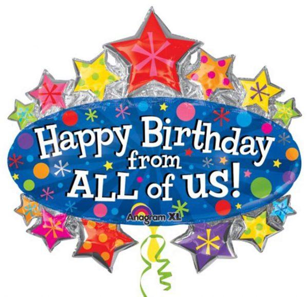 """Μπαλόνι """"Happy Birthday from all of us"""" 86 εκ"""