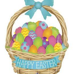 """Μπαλόνι Πασχαλινό Καλάθι """"Happy Easter"""" 99 εκ"""