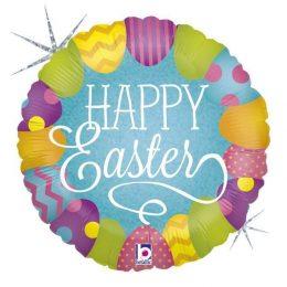 """Μπαλόνι """"Happy Easter"""" με γκλίτερ 46 εκ"""