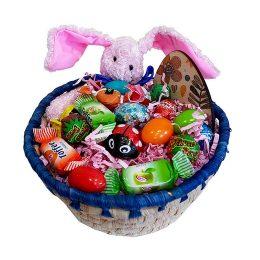 Πασχαλινό καλαθάκι γεμισμένο με σοκολατάκια & ζαχαρωτά (σχέδιο 2)