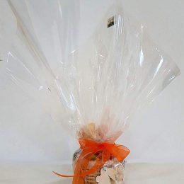 Πασχαλινό καλαθάκι γεμισμένο με σοκολατάκια & ζαχαρωτά (σχέδιο 9)