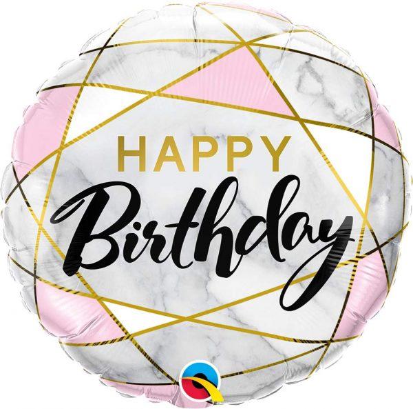 Μπαλόνι Happy Birthday marble 45 εκ