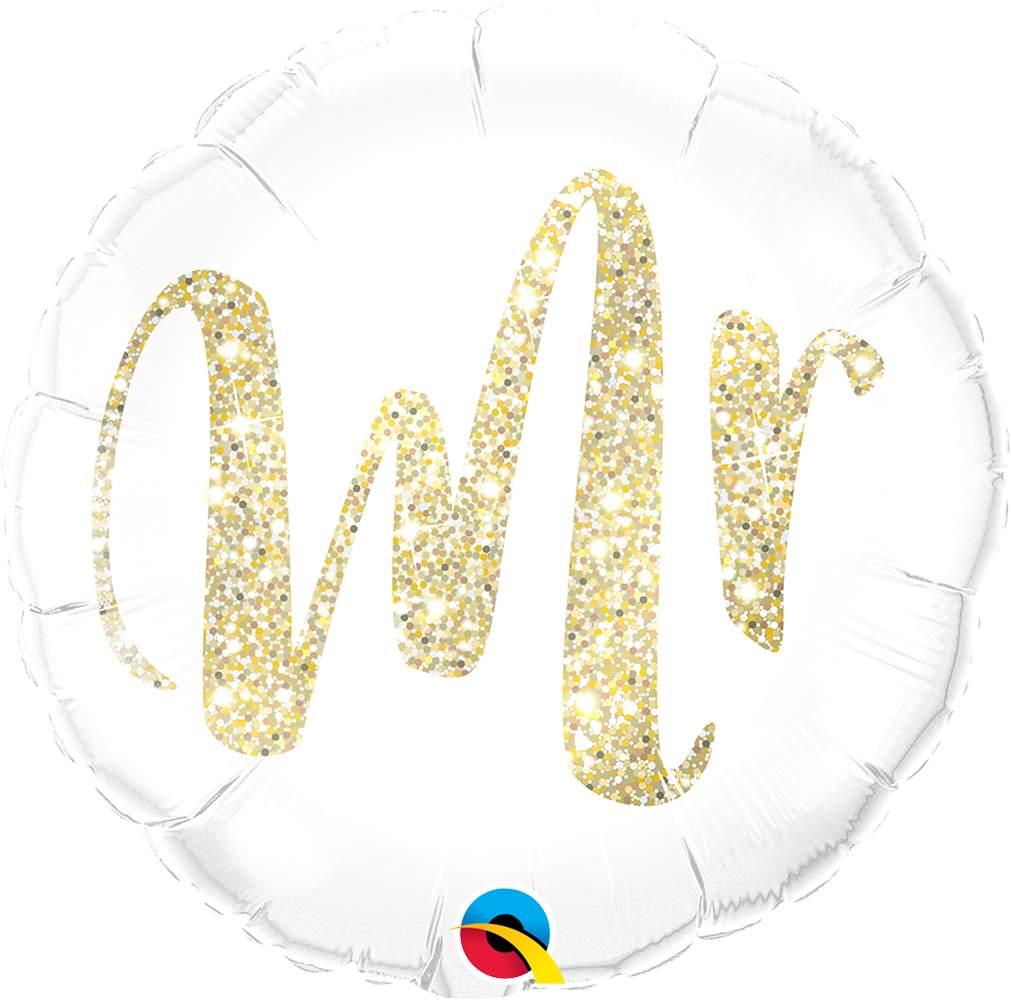 Μπαλόνι Mr χρυσό γκλίτερ 45 εκ