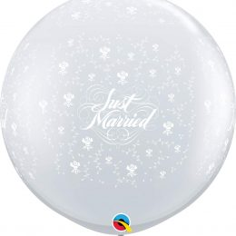 36″ μπαλόνι τυπωμένο Just Married διάφανο