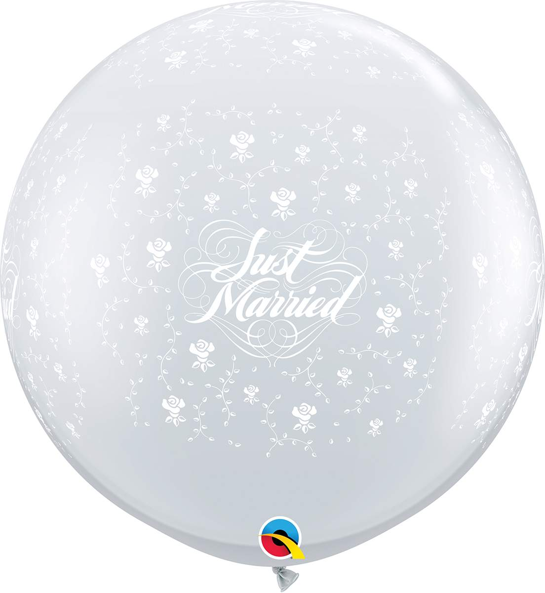 """36"""" μπαλόνι τυπωμένο Just Married διάφανο"""