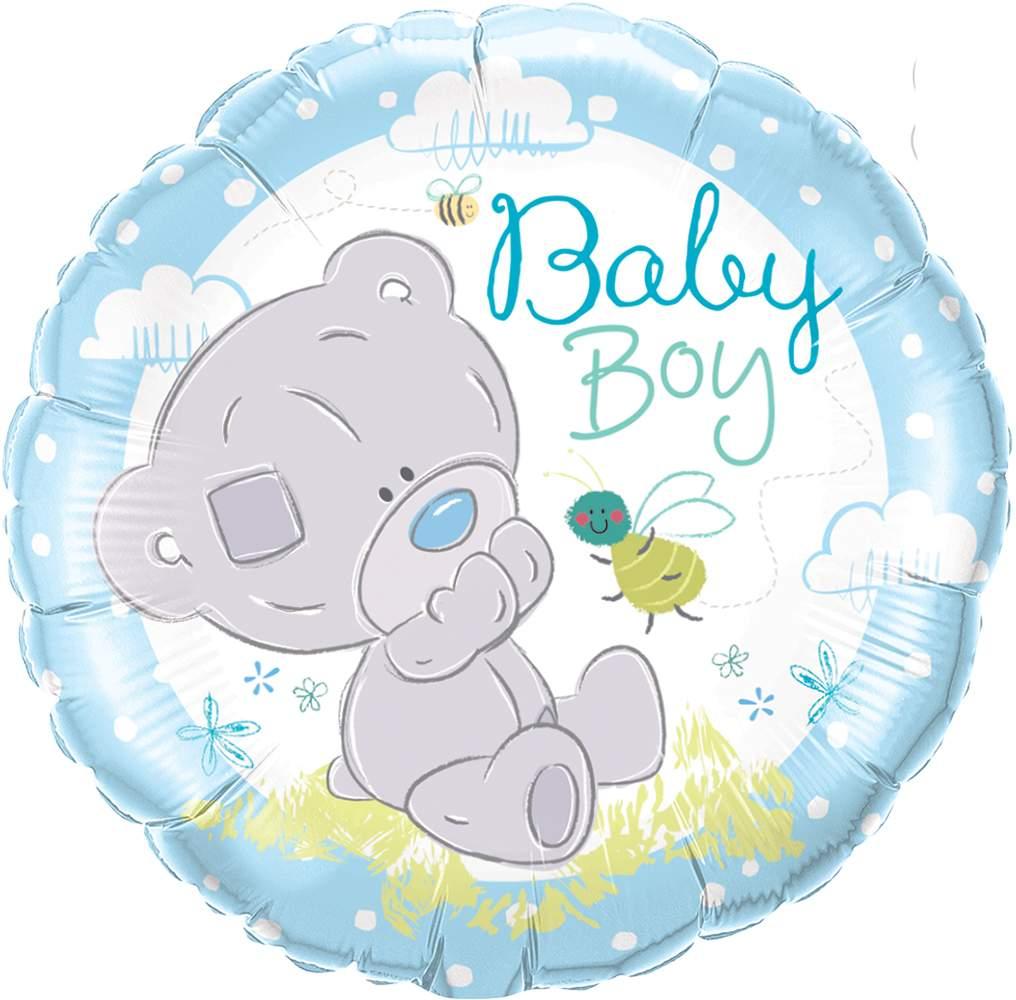 Μπαλόνι γέννησης Αρκουδάκι αγόρι 45 εκ