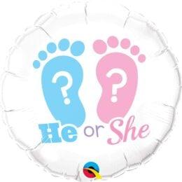Μπαλόνι γέννησης He or She 45 εκ