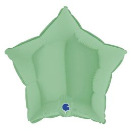Μπαλόνι πράσινο ματ αστέρι 18″