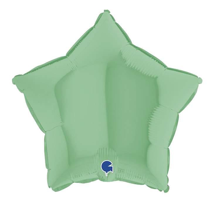 Μπαλόνι πράσινο ματ αστέρι 18''