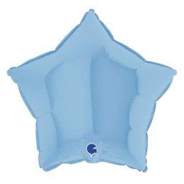 Μπαλόνι γαλάζιο ματ αστέρι 18″