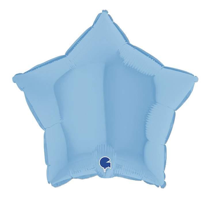 Μπαλόνι γαλάζιο ματ αστέρι 18''