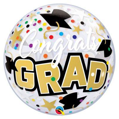 """Μπαλόνι αποφοίτησης bubble """"Congrats Grad"""" 56 εκ"""