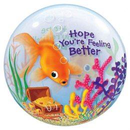 """Μπαλόνι """"Feeling Better"""" με ψαράκια bubble"""