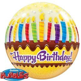 """Μπαλόνι Τούρτα """"Happy Birthday"""" bubble"""