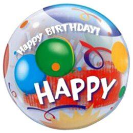 """Μπαλόνι """"Happy Birthday"""" μπαλόνια bubble 56 εκ"""
