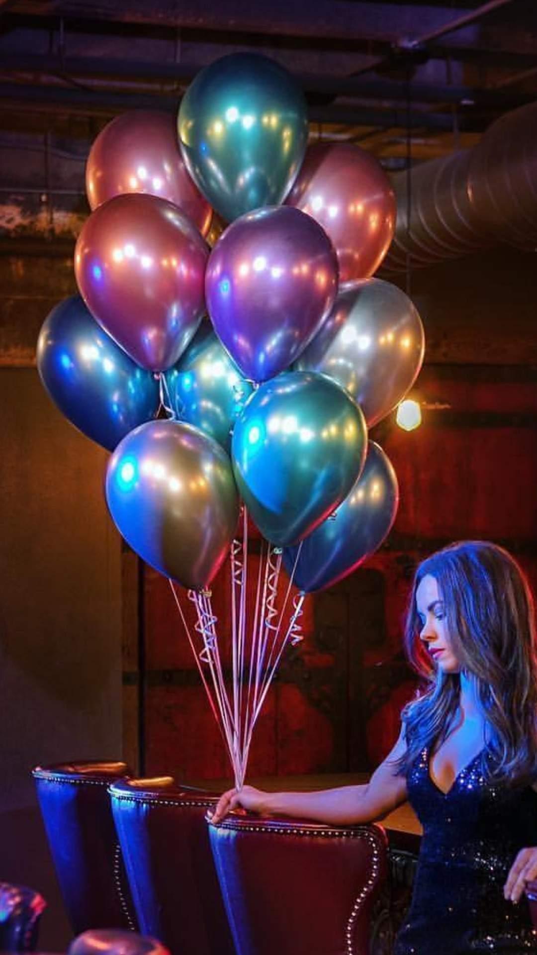 11″ Chrome Πράσινο λάτεξ μπαλόνι