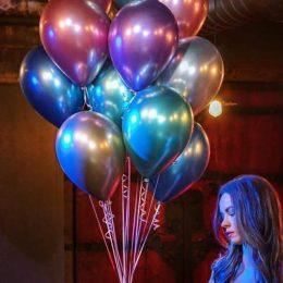 11″ Chrome Μωβ λάτεξ μπαλόνι