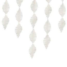 Λευκή διακοσμητική κρεπ γιρλάντα 3μ