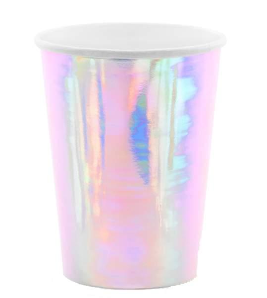Ποτήρια πάρτυ ιριδίζοντα (6 τεμ)