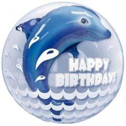 """Μπαλόνι δελφίνι """"Happy Birthday"""" bubble"""