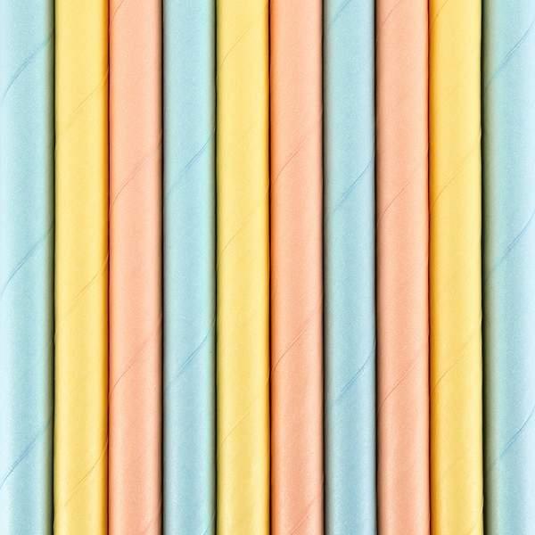 Καλαμάκια χάρτινα Summertime (10 τεμ)