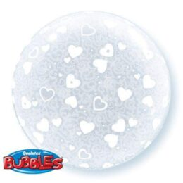 Μπαλόνι Καρδιές Deco bubble 51 εκ