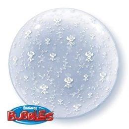 Μπαλόνι με Λουλούδια Deco bubble 51 εκ