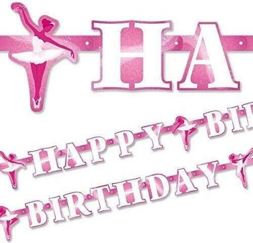 Διακοσμητικό Banner Μπαλέτο Happy Birthday 1,80μ