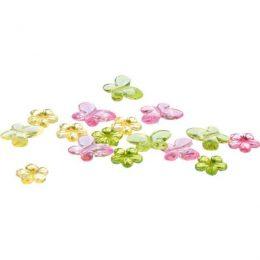 Σετ διακοσμητικά Λουλουδάκια & Πεταλούδες