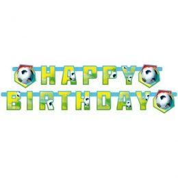 "Banner Ποδόσφαιρο ""Happy Birthday"" 1,80μ"