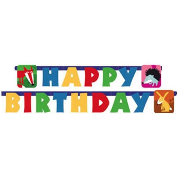 "Banner Woodland ""Happy Birthday"" 1.80μ"