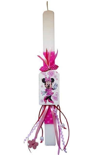 Χειροποίητη Πασχαλινή Λαμπάδα Minnie Mouse