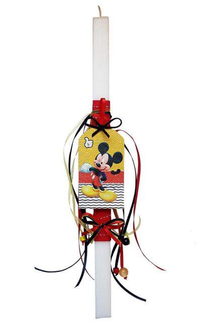 Χειροποίητη Πασχαλινή Λαμπάδα Mickey Mouse