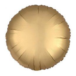 """Μπαλόνι σατέν χρυσό στρογγυλό 18"""""""