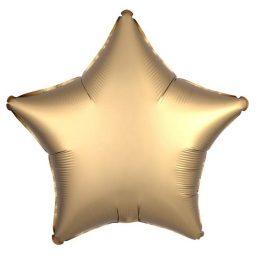 """Μπαλόνι σατέν χρυσό αστέρι 18"""""""
