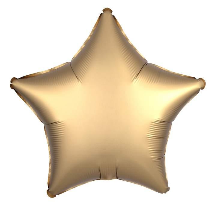 Μπαλόνι σατέν χρυσό αστέρι 18″