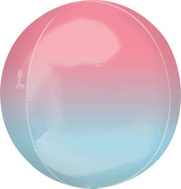 Μπαλόνι Ombre κόκκινο & μπλε σφαίρα